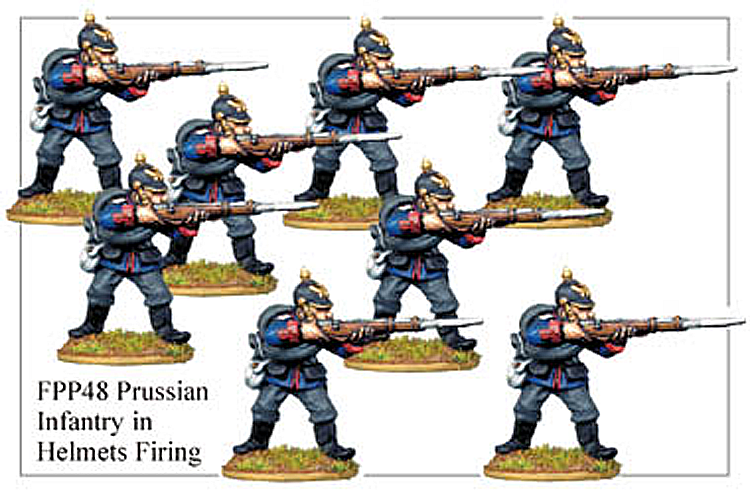 Franco Prussian Prussian - Prussian Infantry In Full Dress Firing