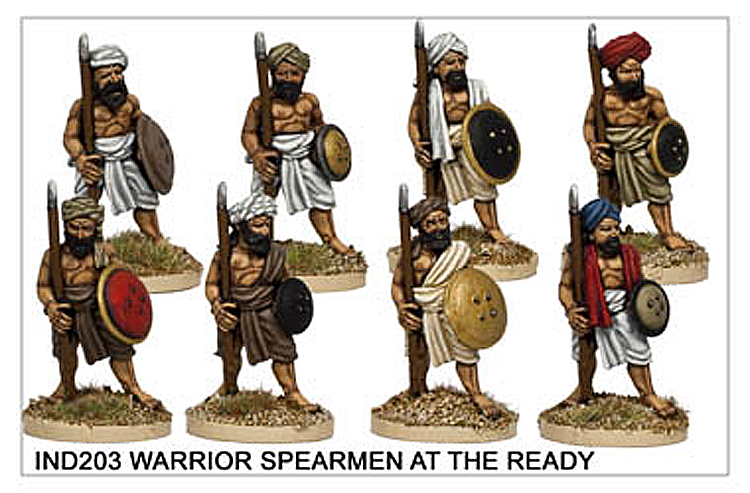 Colonial Sikh Wars - Warrior Spearmen At The Ready