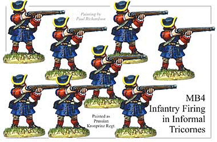 Marlburian European - Infantry In Informal Tricorns Firing