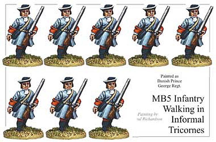 Marlburian European - Infantry In Informal Tricorns Marching