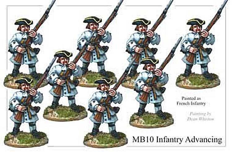 Marlburian European - Infantry Advancing