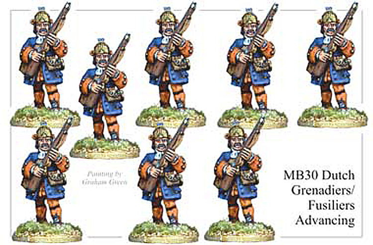 Marlburian Dutch - Dutch Grenadier Or Fusiliers Advancing