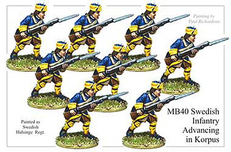 Marlburian Swedish - Swedish Infantry Advancing In Korpus