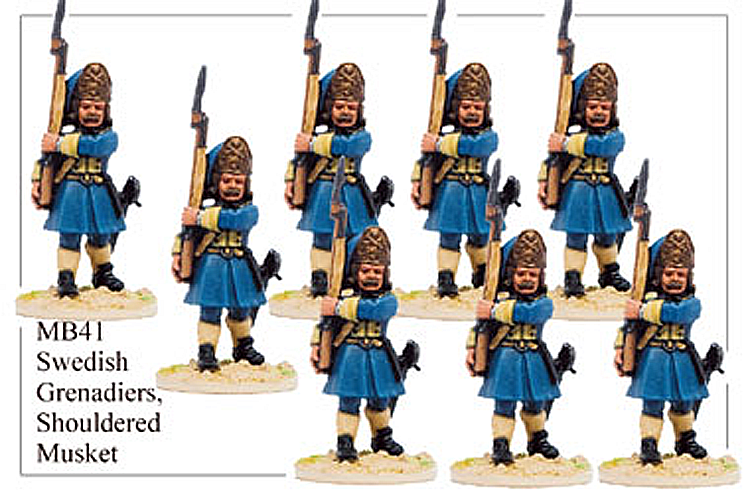 Marlburian Swedish - Swedish Infantry Grenadiers