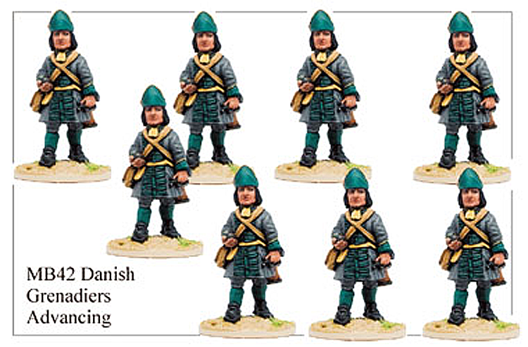 Marlburian Danish - Danish Infantry Grenadier Marching