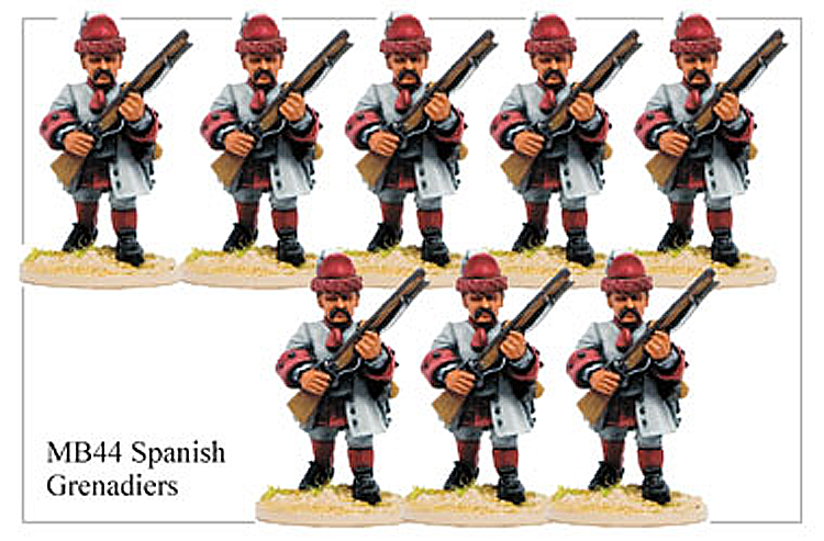 Marlburian Spanish - Spanish Infantry Grenadier Advancing