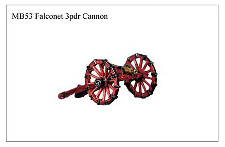 Marlburian European - Falconet 3 Pounder Cannon