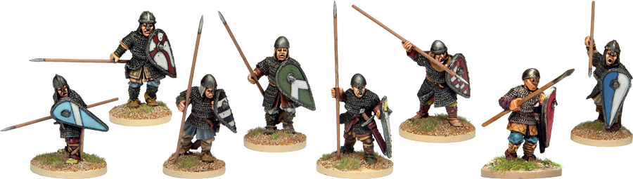 Armoured Norman Spearmen Advancing