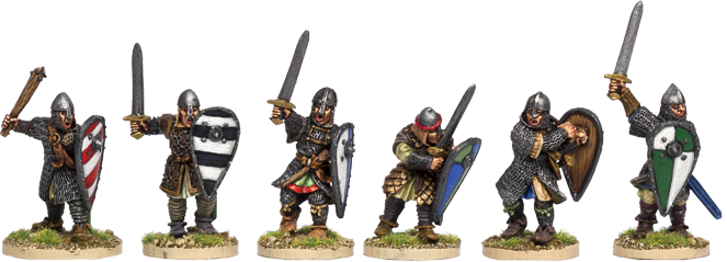 Dismounted Norman Knights
