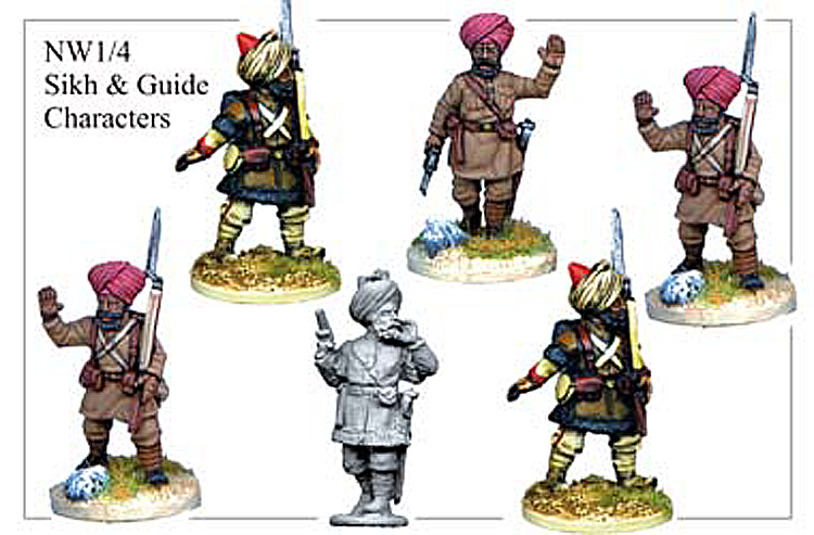 Colonial The North West Frontier - Sikh And Guide Characters