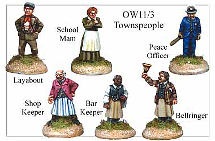 Old West Townsfolk - Townspeople
