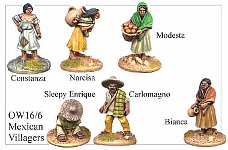 Old West Mexicans - Mexican Villagers