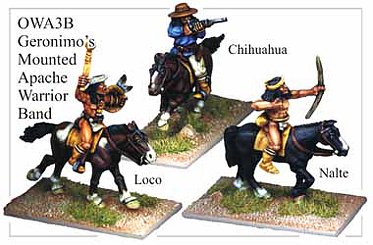 Old West Indians - Geronimos Mounted Warrior Band