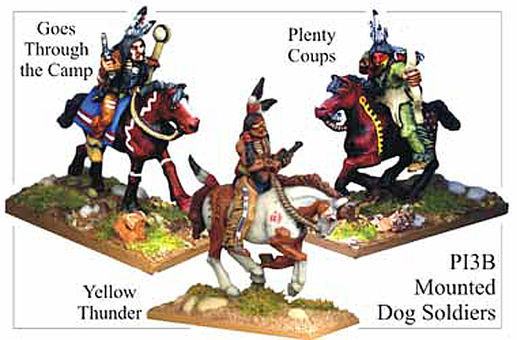 Old West Indians - Plains Indians Mounted Dog Soldiers