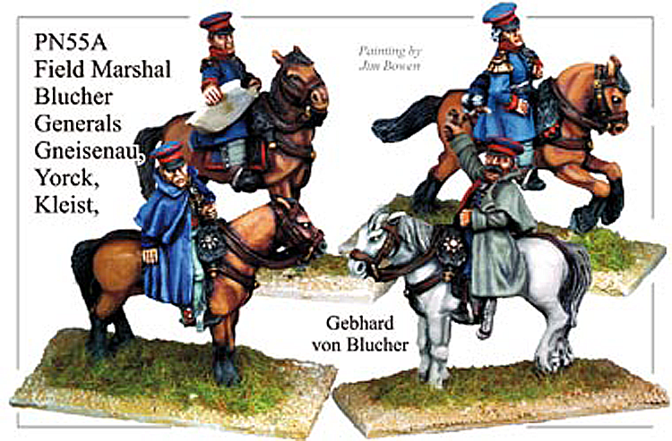 Napoleonic Prussian - Prussian Generals Blucher And Gneisenau And Yorck And Kleist