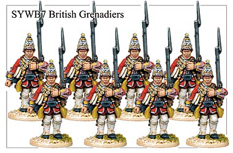 Seven Years War British - British Grenadiers Advancing