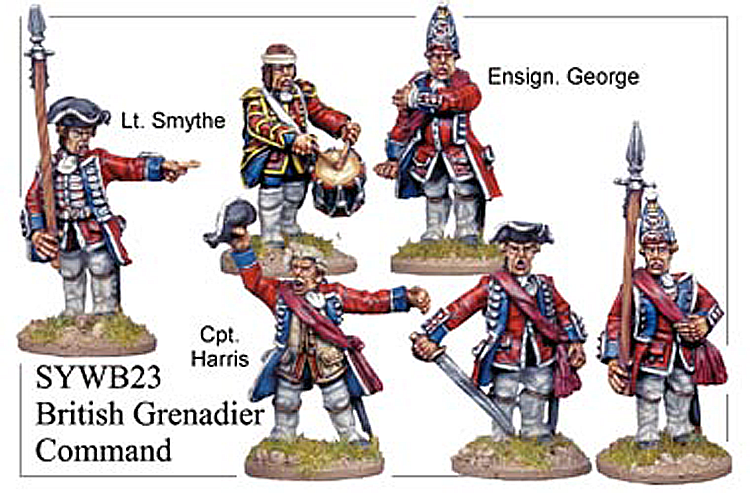 Seven Years War British - British Infantry Command