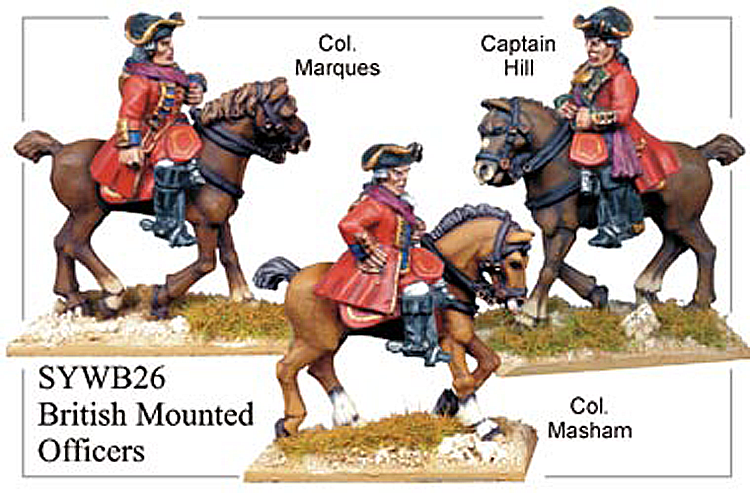 Seven Years War British - British Mounted Officers
