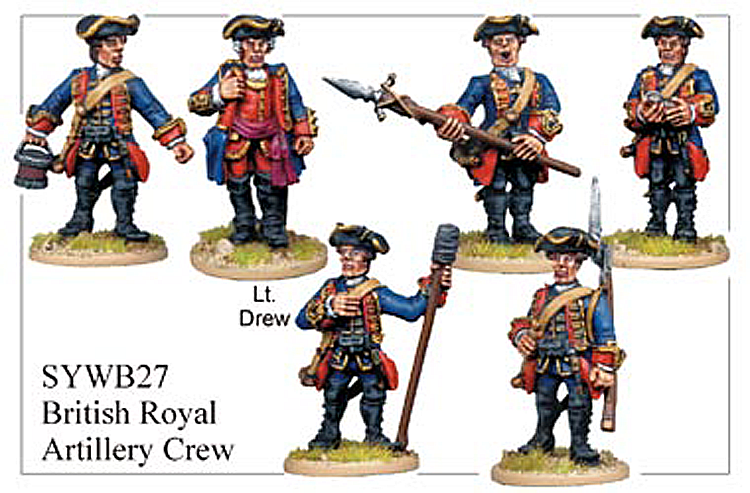 Seven Years War British - British Artillery Crew