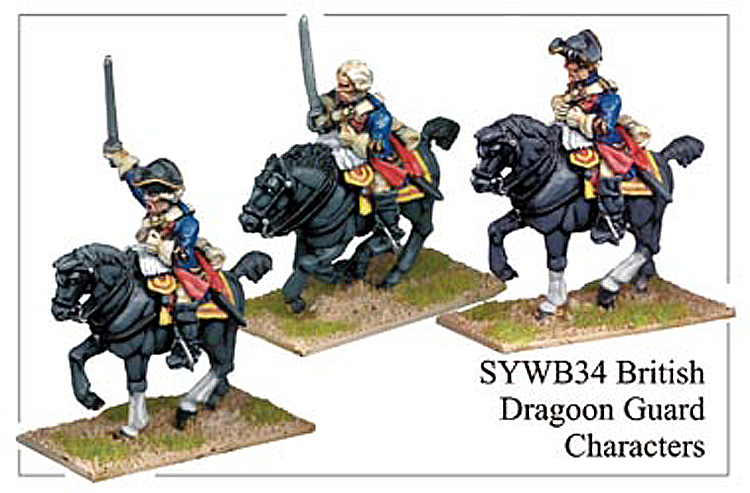 Seven Years War British - British Dragoon Guard Characters