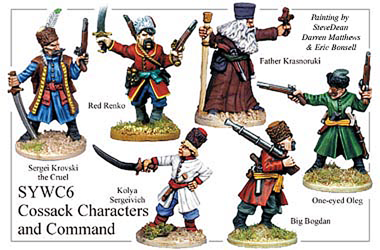 Seven Years War Russian - Cossack Command And Characters