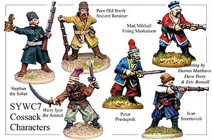 Seven Years War Russian - Cossack Characters