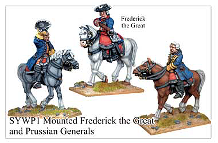 Seven Years War Prussian - Prussian Mounted Frederick The Great And Generals