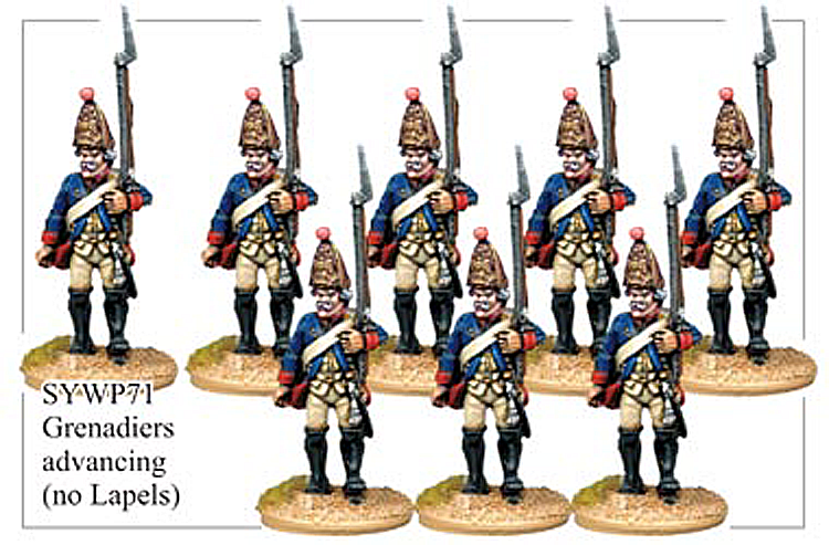 Seven Years War Prussian - Prussian Grenadiers No Lapels