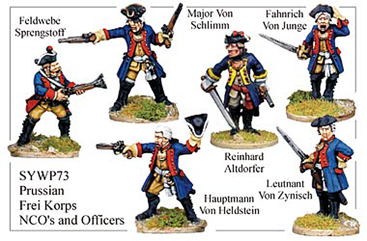 Seven Years War Prussian - Prussian Frei Korps Ncos And Officers