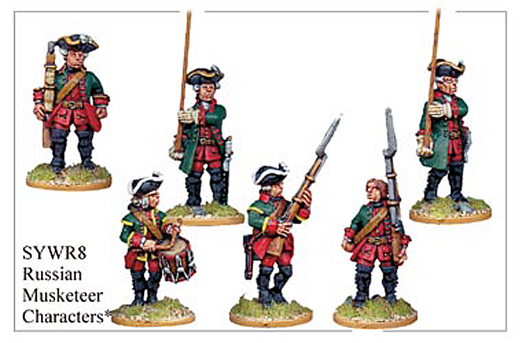 Seven Years War Russian - Russian Musketeer Command And Characters