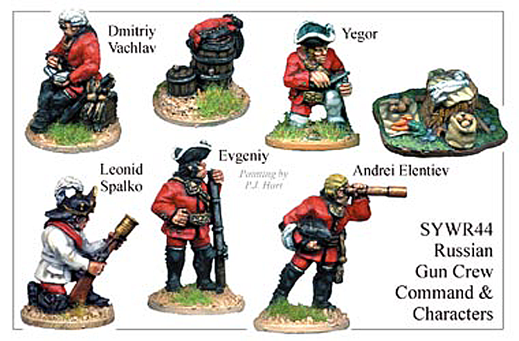 Seven Years War Russian - Russian Gun Crew Command And Characters