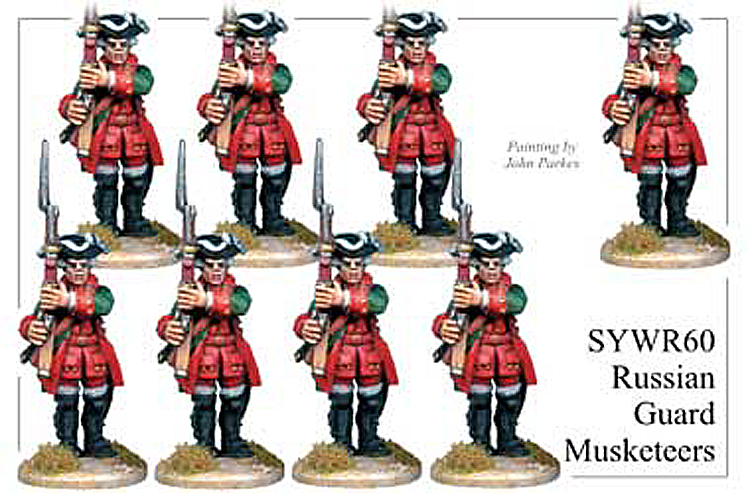 Seven Years War Russian - Russian Guard Musketeers