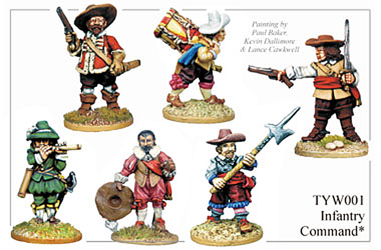 English Civil War German - Thirty Years War Infantry Command