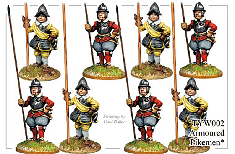 English Civil War German - Thirty Years War Armoured Pikemen
