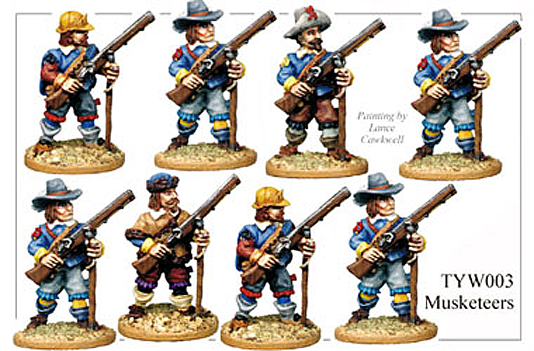 English Civil War German - Thirty Years War Musketeers