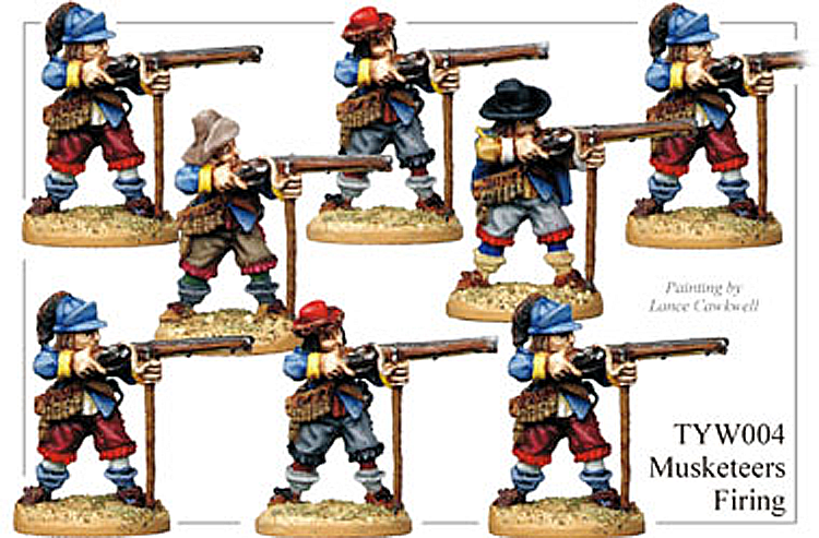 English Civil War German - Thirty Years War Musketeers Firing
