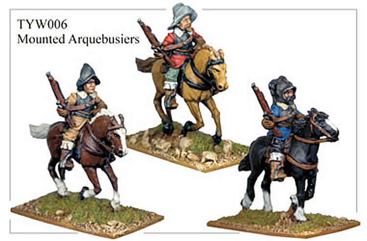 English Civil War German - Thirty Years War Mounted Arquebusiers