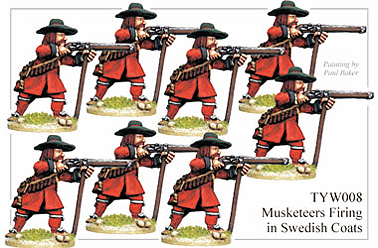 English Civil War German - Thirty Years War Musketeers Swedish Coats