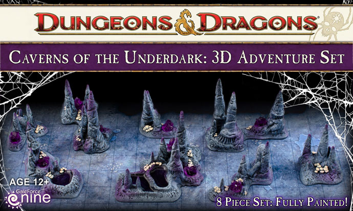 Caverns of the Underdark 3D Adventure Set