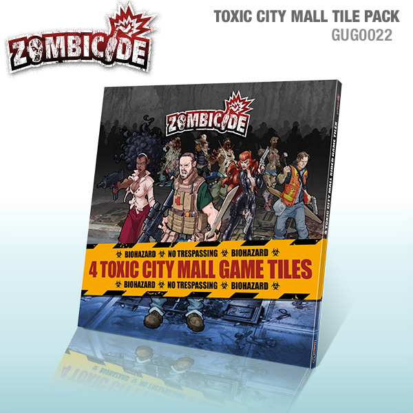 Zombicide: Toxic City Mall 4 Double Sided Game Tiles