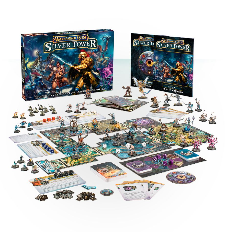 Warhammer Quest: Silver Tower y Mighty Heroes (Español)