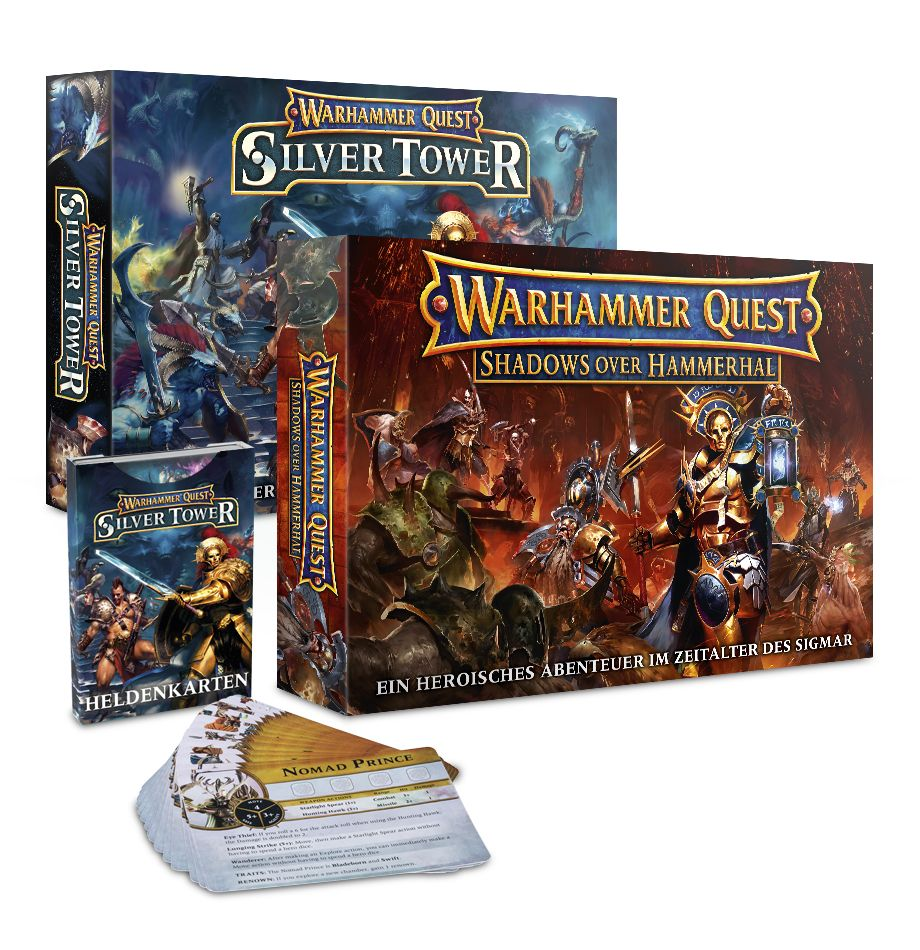 Warhammer Quest Silver Tower, Shadows Over Hammerhal plus Heldenkarten (Deutsch)