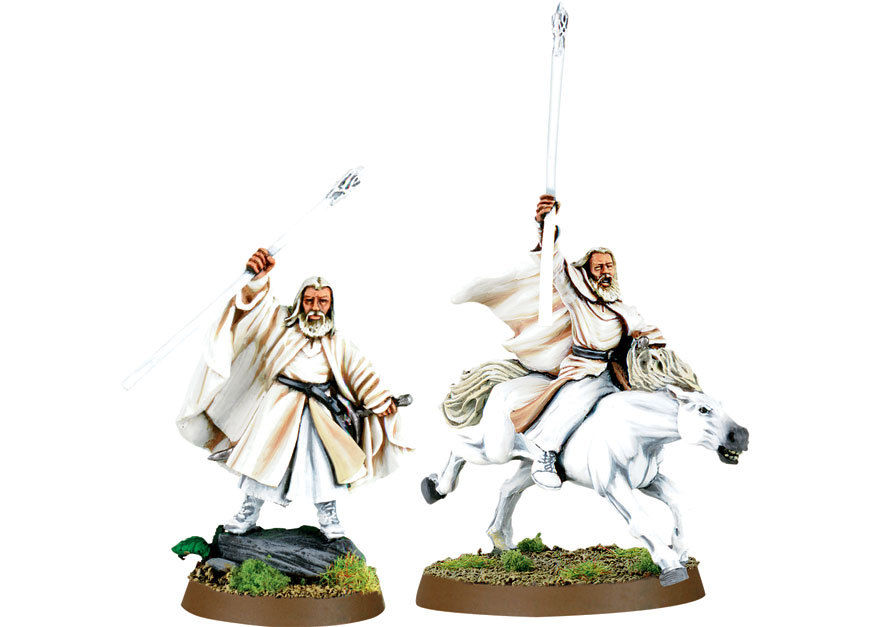 Gandalf the White Foot and Mounted