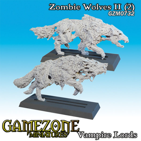 Gamezone Miniatures: Vampires Lords - Zombie Wolves II