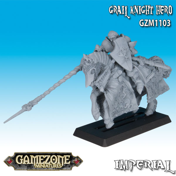 Gamezone Miniatures: Feudal Knights - Grail Knight Hero