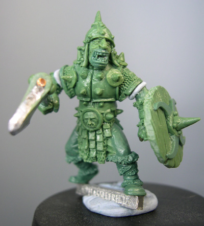 Borak, Orc Champion with axe and shield