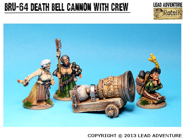 "Cannon ""Death Bell"" with Crew"