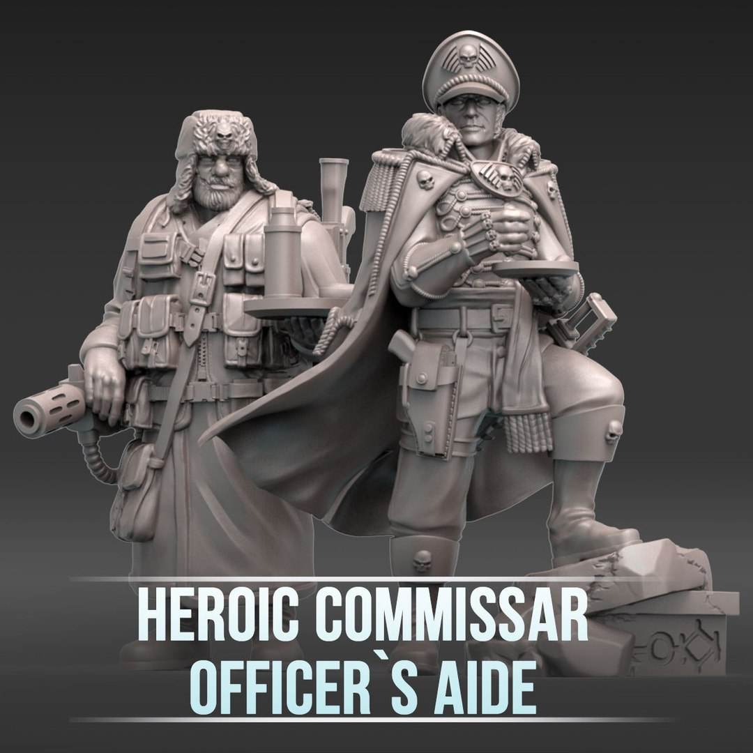 Heroic Commissar and Officer's Aide