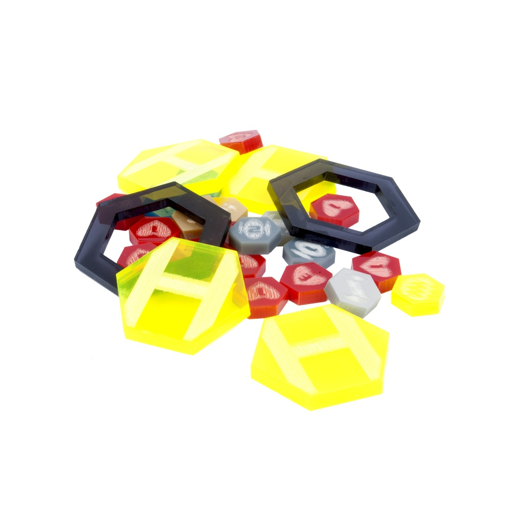 DreadBall Xtreme Acrylic Counters – Yellow
