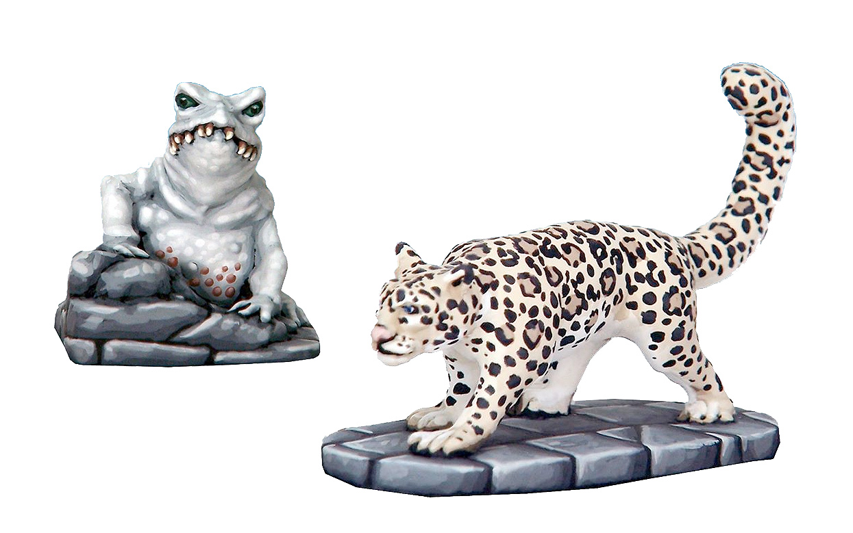 Ice Toad & Snow Leopard.